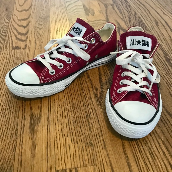 6cd0aadabce6 Converse Shoes - Converse All Star Chuck Taylor Maroon Red Low Top